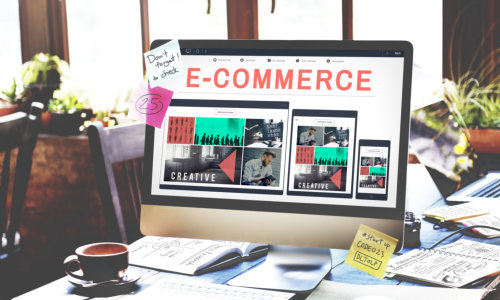 ecommerce on the laptop